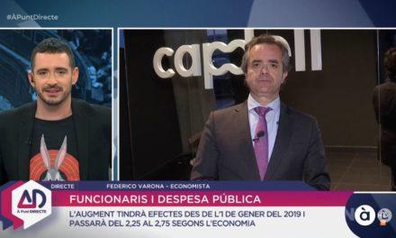 FEDERICO VARONA ANALIZA LA SUBIDA SALARIAL A LOS FUNCIONARIOS EN À PUNT DIRECTE
