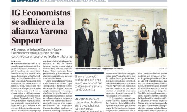 EL CRECIMIENTO DE VARONA SUPPORT ES NOTICIA EN LOS MEDIOS